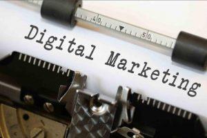 Digital Marketing on a typewriter