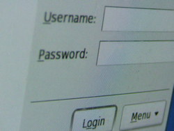 USer name and password box