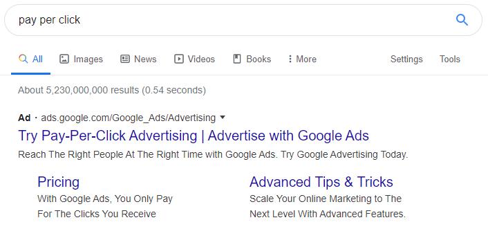 Google Ads / Pay per click screenshot