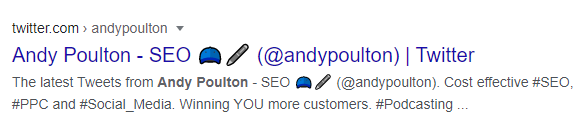 Andy Poulton's Twitter Profile