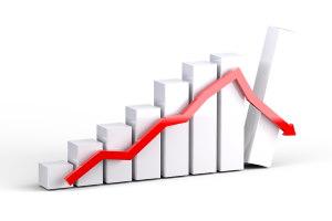 A graph representing and economic crash