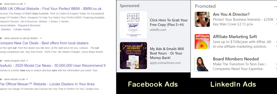 Google Ads, Vs Facebook Ads Vs LinkedIn Ads – which one would you choose